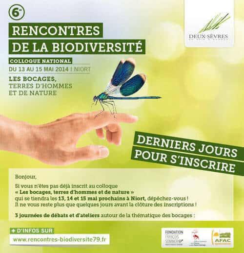rencontres biodiversité niort